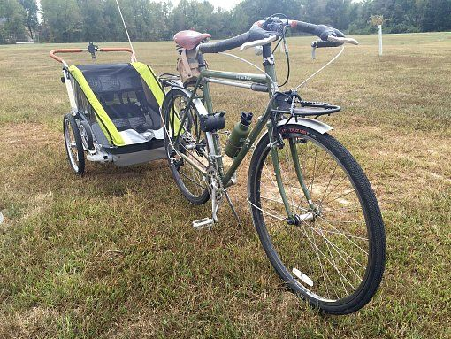 Surly Long Haul Trucker and bike trailer