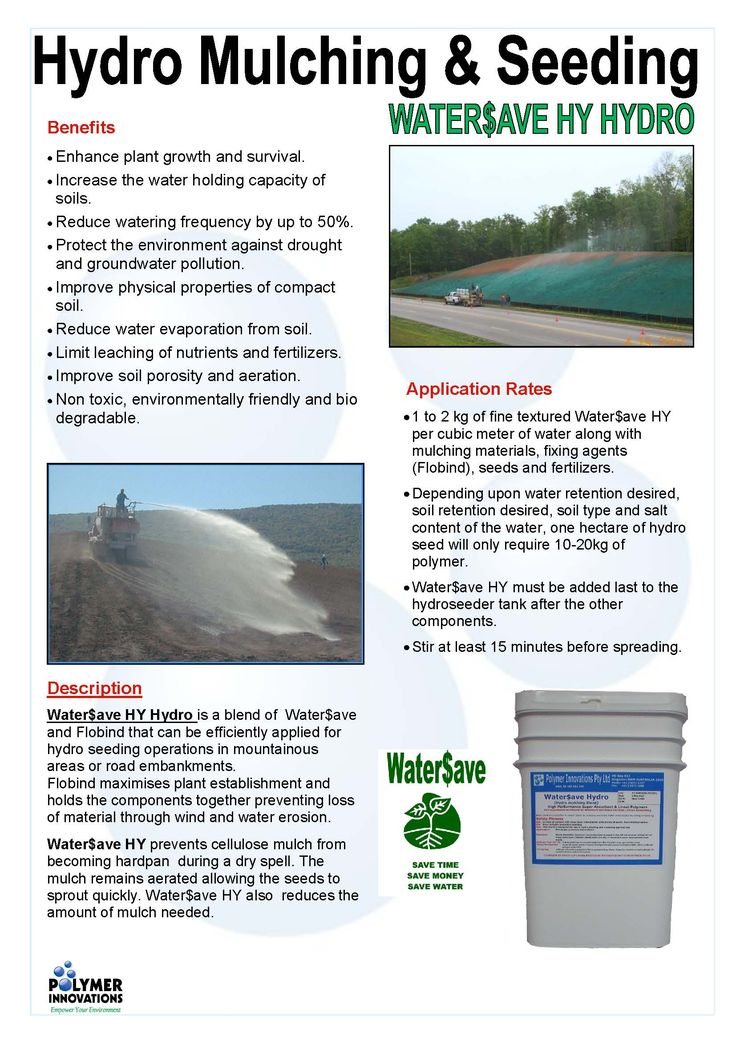 Maximise #plant establishment while preventing loss by #wind & #water #erosion with WATER$AVE HYDRO! Enhance growth, increase water holding capacity & decrease watering frequency. Go to - https://www.polymerinnovations.com.au/product/watersave/hydro/ NOW!  #Save #Seed #Soil #Root