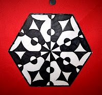 Cool positive and negative space art project.