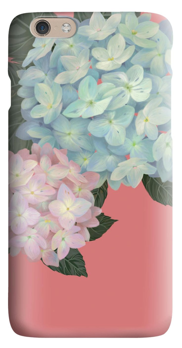 Whatskin DIY Style Artistic Flowers with Pink Background Hard Back Cover for iphone 6