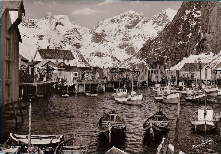 Nordland fylke Lofoten fiskebåter Utg Normann