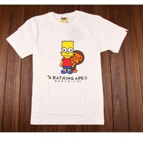Back to 80's in this A Bathing Ape Baby Milo Bart T-shirt Collection  http://superdap.com/tops/t-shirts/a-bathing-ape-baby-milo-bart-t-shirt-white  #abathingape #bapetshirt #streetwear #urbanwear #streetwear