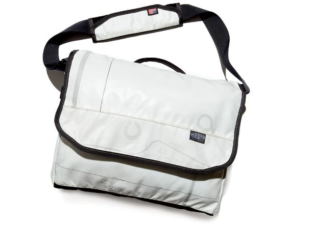 """""""This water-resistant bag is handcrafted in the U.S. from recycled and repurposed, undeployed side-impact airbags."""" bicycling.com"""