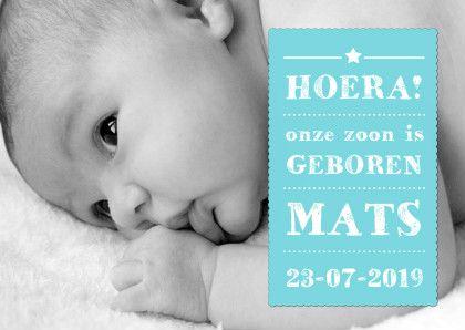 Geboortekaartje Jongen Tekst - Geboortekaartjes - Kaartje2go