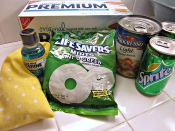 Morning sickness gift basket idea #pregnancy #giftidea