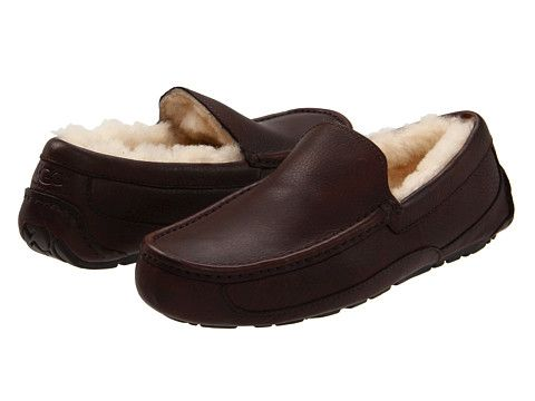 The BEST house shoes ever! UGG Ascot Leather China Tea Leather - Zappos.com Free Shipping BOTH Ways