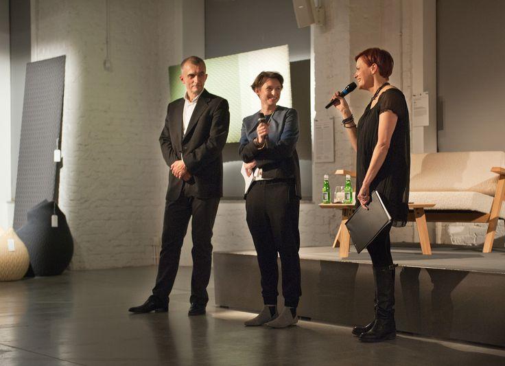 Otwarcie Festiwalu, Maciej Kuchareczko (DEKOMA), Ewa Voelkel Krokowicz (Concordia Design) , Małgorzata Bernady (kuratorka)