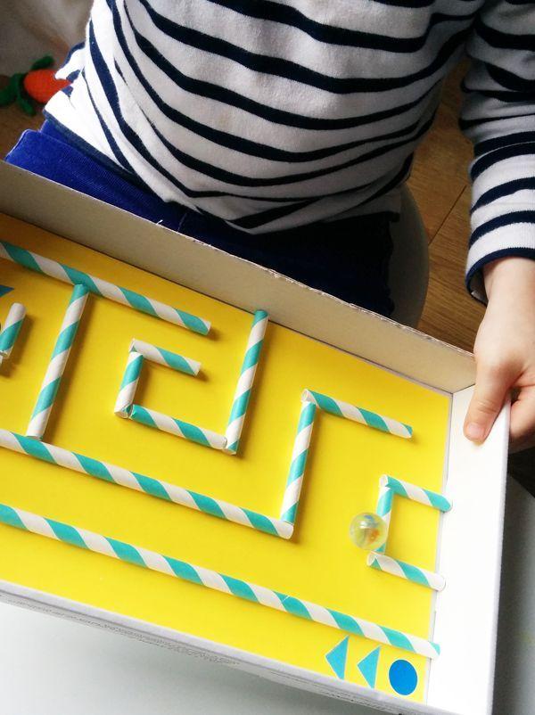 Das Basteln eines Papp-Labyrinths ist ein echtes Kinderspiel! Es wird dauern …