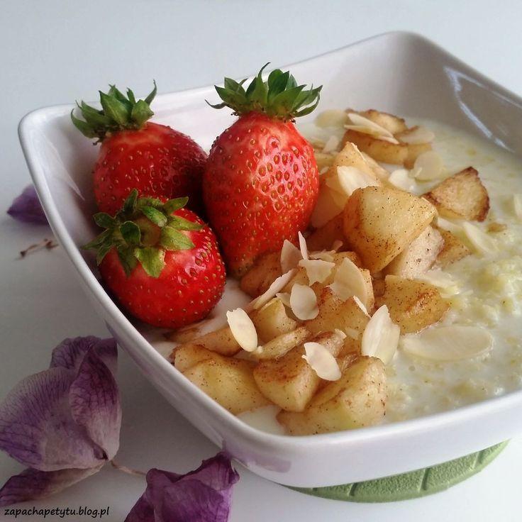 Millet porridge with fried apple #zapachapetytu #millet #porridge #apple