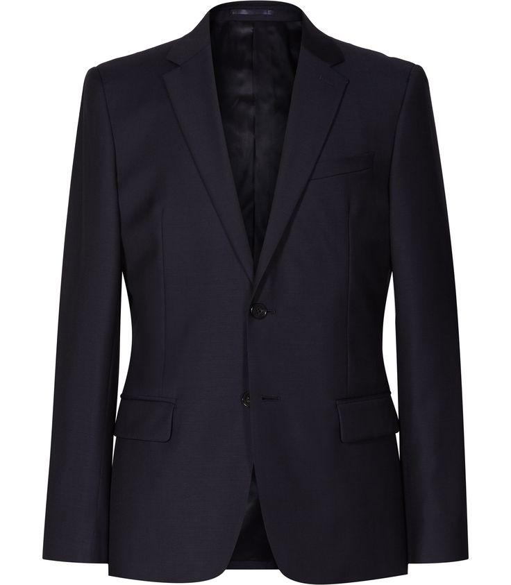 Mens Navy Modern Fit Blazer - Reiss Harry B