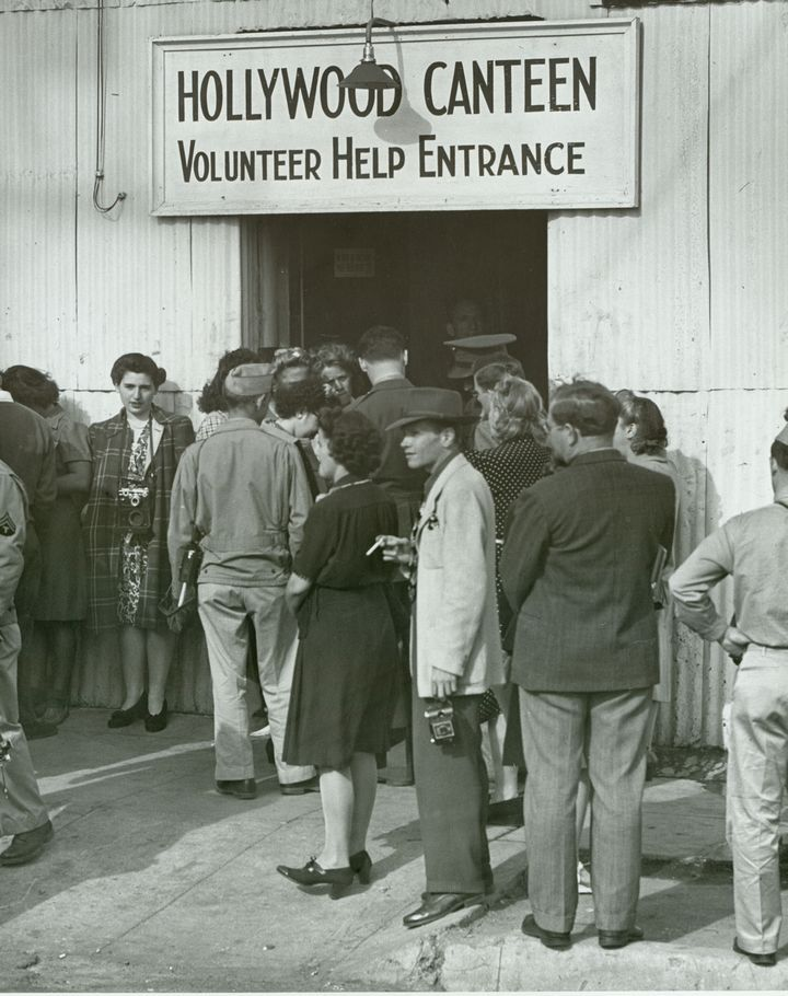 Historic Photograph of Volunteers Entrance At The Hollywood Canteen