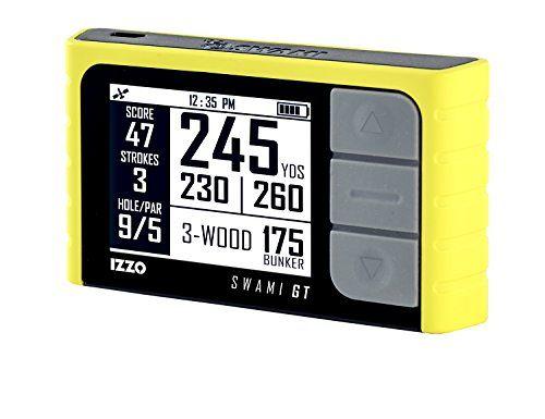Izzo Golf 2015�Swami GT Spiel Tracker GPS Entfernungsmesser Tragbare Launch Monitor schwarz schwarz Einheitsgr��e