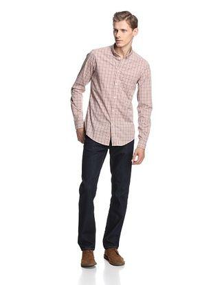 Ben Sherman Men's Long Sleeve Shirt (Coral Reef)