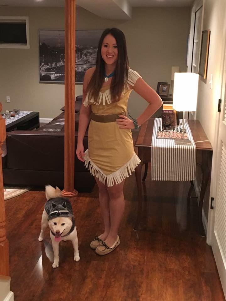 DIY Pocahontas costume #diy #pocahontas #costume #meeko #disney