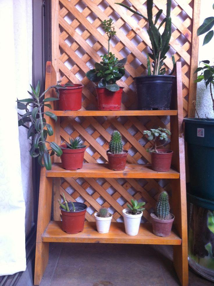como hacer un estante de madera para plantas - Buscar con Google