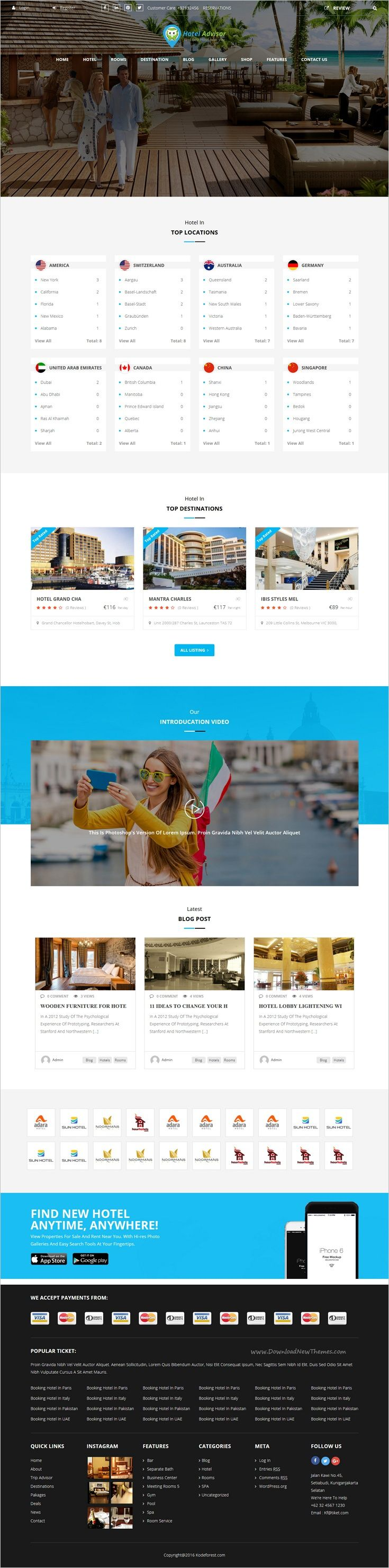 Hotel Advisor is a wonderful 6 in 1 #WordPress theme to #webdesign manage #hotels, hostels, resorts, #rooms reservation with in depth review and booking management system website download now➩  https://themeforest.net/item/hotel-advisor-hotel-management-and-booking-wordpress-theme/18435488?ref=Datasata