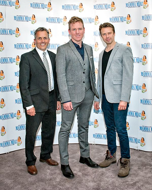 Christopher Hollis (Bill Austin), Jon Boydon (Sam Carmichael) and Jamie Hogarth (Harry Bright).  We ❤️ this f-ABBA-lous photo from the MAMMA MIA! UK Tour's Press Night on 31 May 2017 at Leeds Grand Theatre.  For all MAMMA MIA! UK Tour dates and tickets visit: www.mamma-mia.com  Photo by Anthony Robling.  #MammaMiaMusical #MammaMiaUKTour #Leeds #PressNight