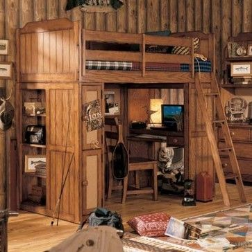 20 best log cabin bed loft ideas images on pinterest for Log cabin style bunk beds