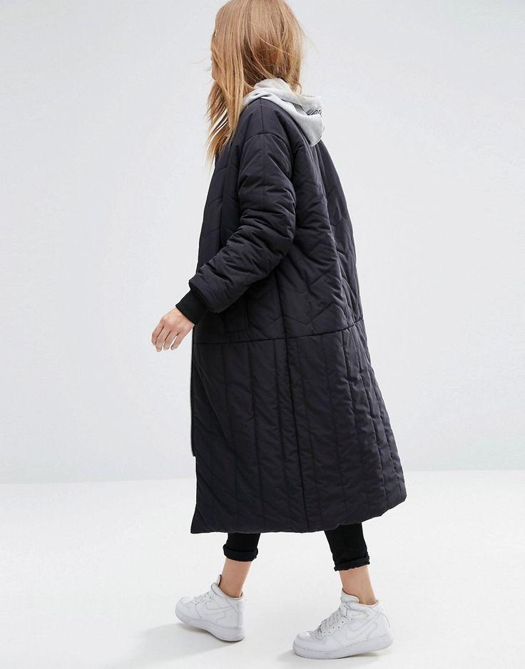 Image 2 ofASOS Longline Reversible Padded Jacket