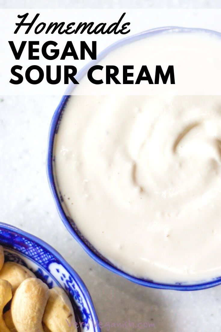 Vegan Sour Cream Cashew Cream Very Veganish Recipe In 2020 Vegan Sour Cream Cashew Cream Sour Cream Recipes