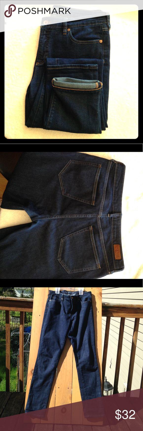 LE Mid Rise Slim Jeans SZ US 10 Lands'End Women's Mid Rise Slim Leg Jeans Size 10 (M)  Good condition Lands' End Pants Straight Leg