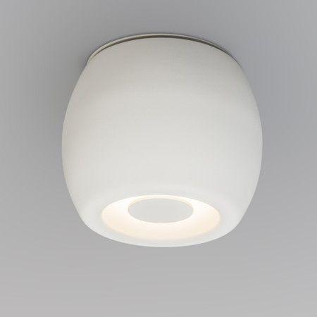 Plafón / Foco FONDO blanco - Foco de diseño muy elegante, en acero lacado en color blanco mate. Aptos para exteriores y baños.