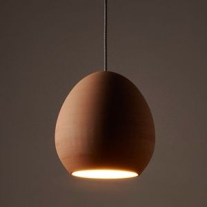 Pod - Hand Thrown Clay Pendant Light by Australian Designer, Bradley Cole.  Beautifully sensual, handcrafted forms, thrown from Italian clay by one of Australia's most talented potters.  The pod's natural bisque finish offers warmth and individuality to any space.