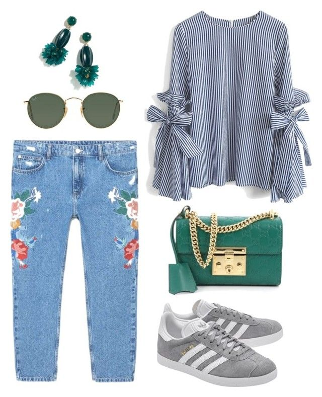 """""""green spring"""" by aboutmetheblog on Polyvore featuring MANGO, Chicwish, adidas Originals, Gucci, Ray-Ban and J.Crew"""
