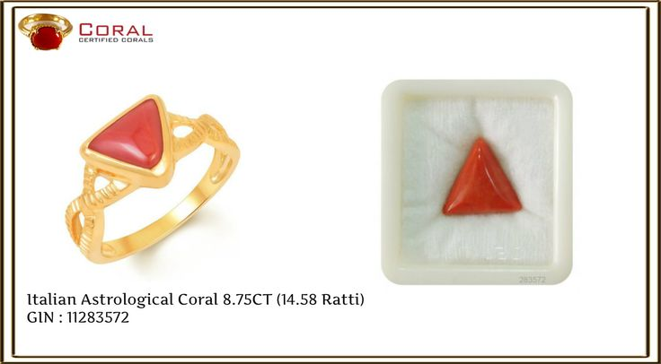 Make a #style statement with this #fascinating #coral #gold #ring