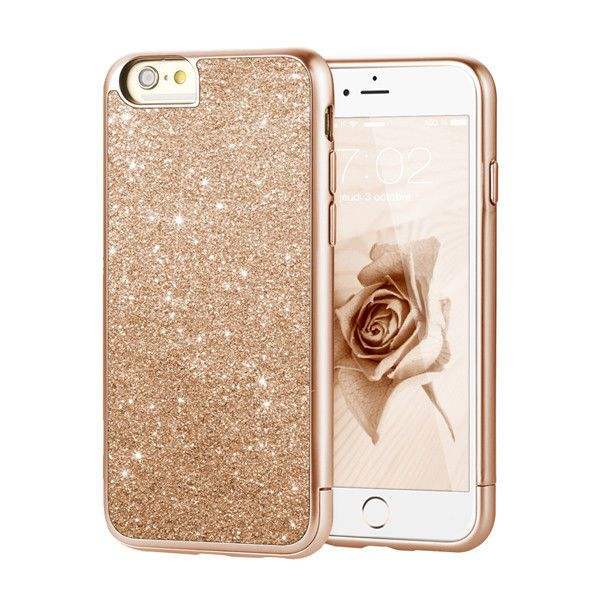 "Prodigee Sparkle Glitter Rose Pink Gold iPhone 6 6s PLUS 5.5"" Slim Case Cover in Cell Phones & Accessories, Cell Phone Accessories, Cases, Covers & Skins 