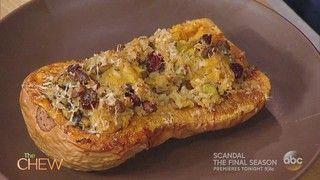 Cranberry Rice Stuffed Butternut Squash Recipe | The Chew - ABC.com
