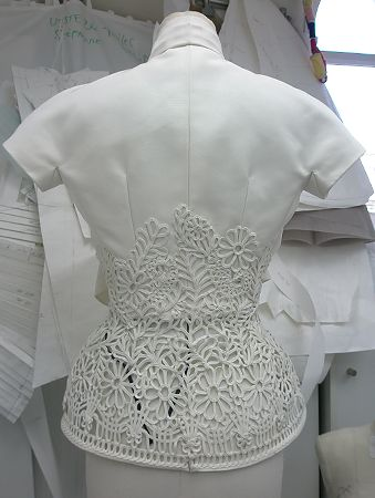 Fashion Atelier - haute couture fashion studio behind the scenes; dressmaking; embroidery // Christian Dior
