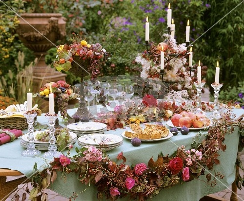 elegant buffet table | Party Ideas | Pinterest | Gardens ...