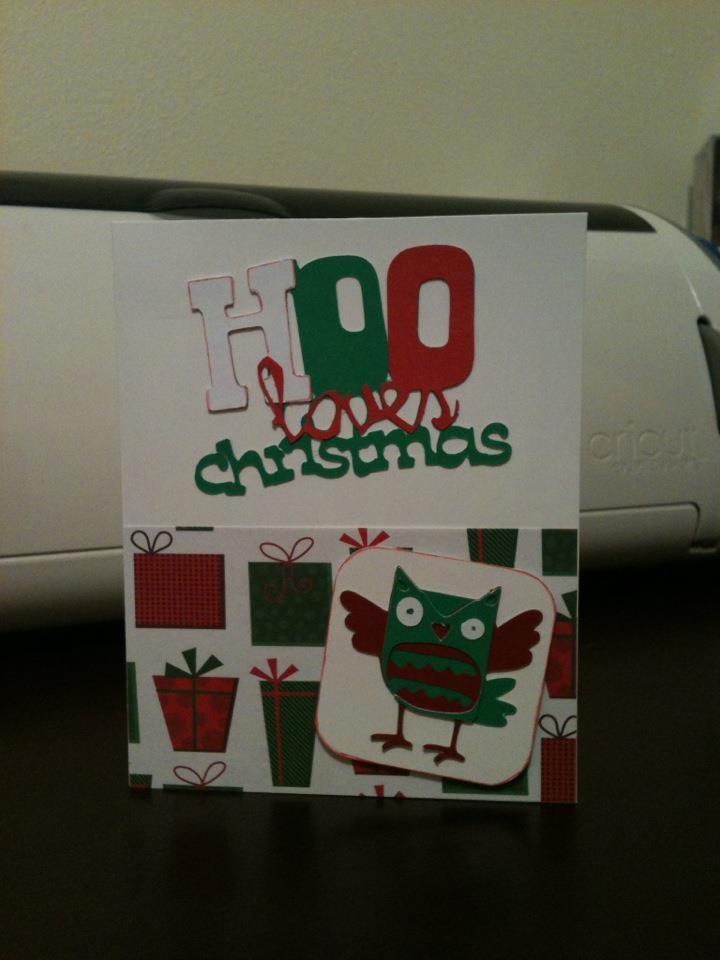 Christmas card made with Cricut