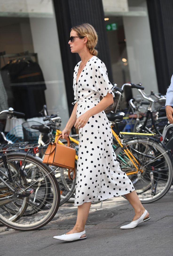 love the polka dot dress