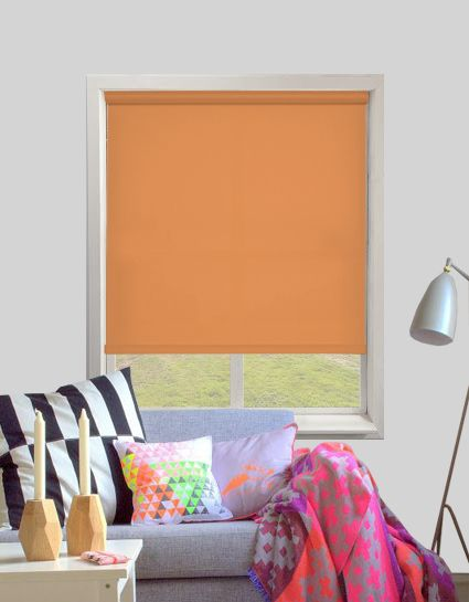 palette burnt orange roller blinds