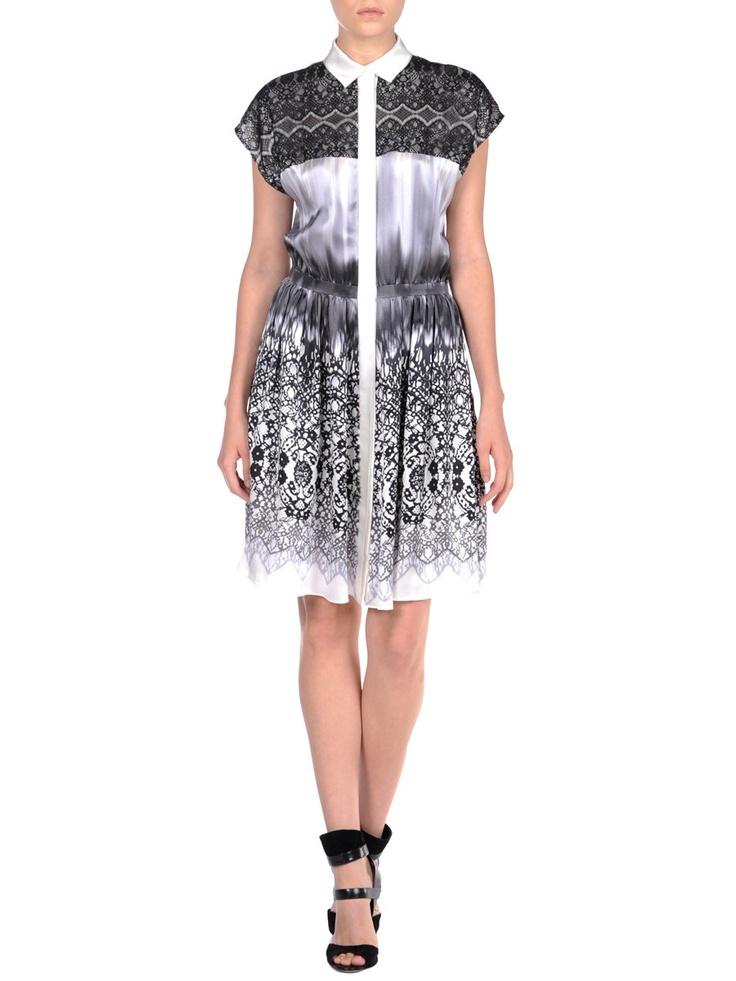 ICB Melting Lace Print Silk Dress