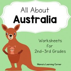 Australia Worksheets - perfect for your unit study! Reading comprehension, Australian animals, map work, and more! For 2nd-3rd graders.                                                                                                                                                                                 More