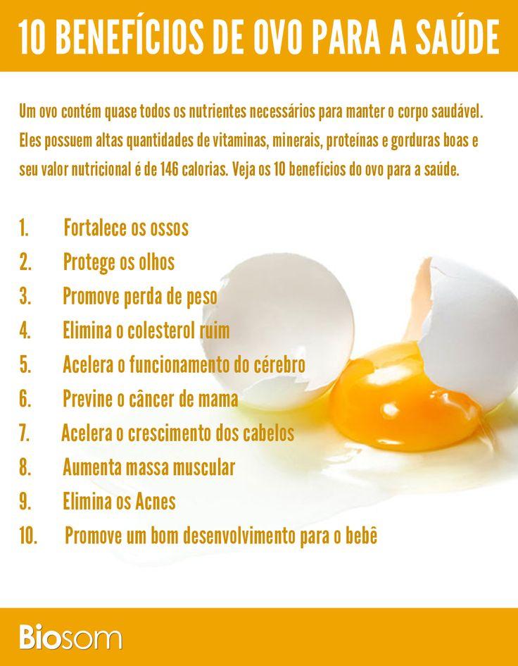 Clique na imagem e veja os 10 benefícios de ovo para a saúde. #alimento #infográfico #alimentação saudável #ovo #proteina