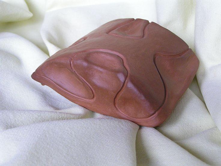 Ceramiczny pojemnik, puzderko_ I strona_góra