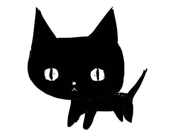 """""""The Black Kitty"""" 8x10 print by ashley g"""