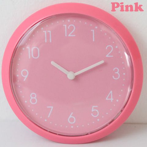 Only 6-10 Days Arrive To USA By E-Packet In Air Pink Color Fridge Magnet Clock,Kitchen Wall Clock,Thin Clock Fridge Sticker