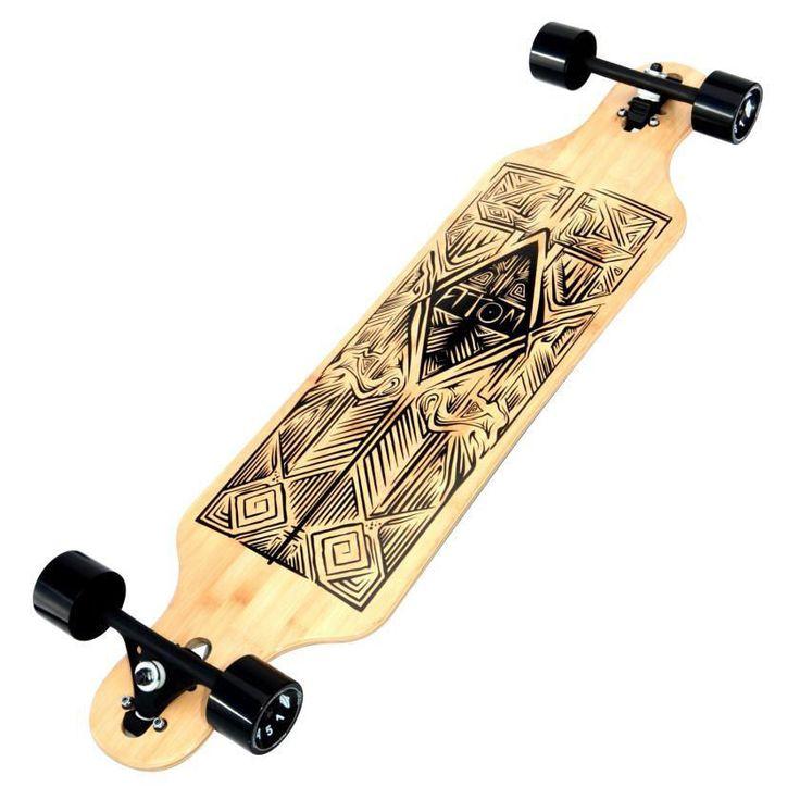 Cheap Longboards Atom Longboard For Girls Boys Skateboard Deck Trucks Bearings #Atom