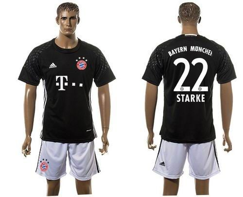 bayern munchen 22 starke goalkeeper black soccer club jersey jerseys hot sale online with wholesale