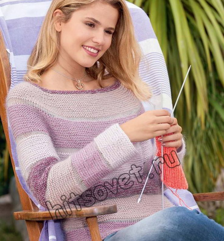 Женский пуловер реглан,