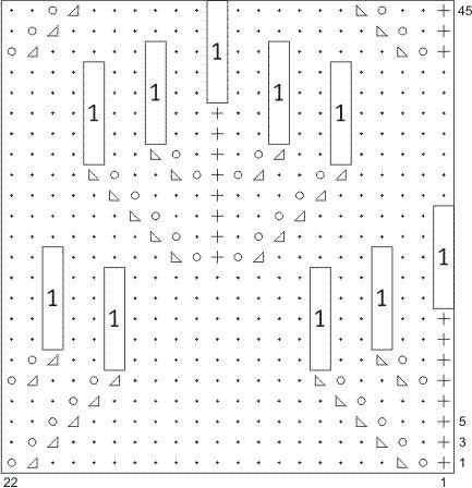 Схема кельтского узора на спицах