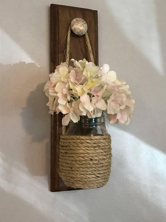 Rustic Hanging Vase