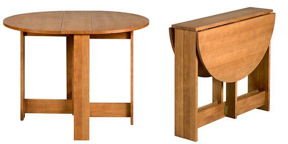 Mesas dobráveis que economizam espaço, e dicas de onde comprar - dcoracao.com - blog de decoração