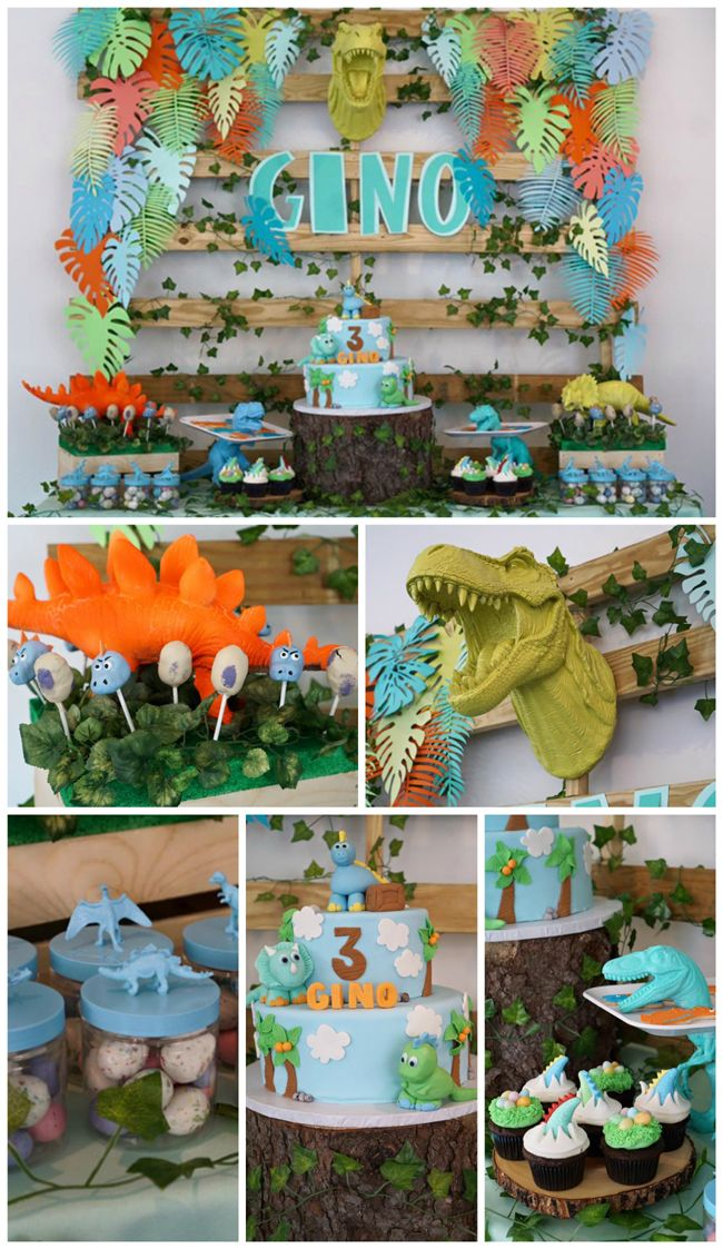Totally Roarsome Dinosaur Inspired Birthday Party on Pretty My Party