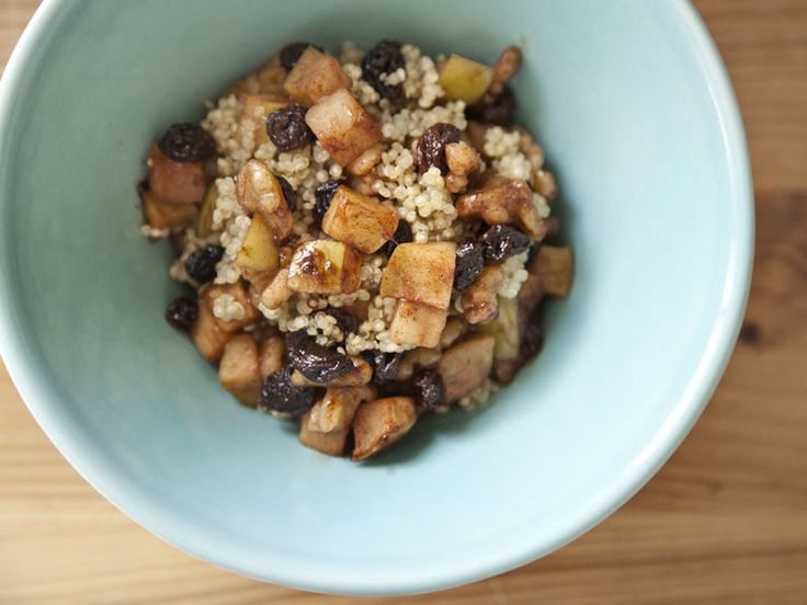 Hot Quinoa Apple Cinnamon Cereal | Break-fast & Snacks | Pinterest